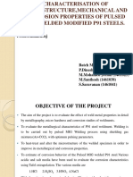 Characterization of pulsed MIG welded Modified P91 steel