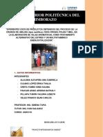 """DIFERENTES USOS DE PRODUCTOS OBTENIDOS DEL PROCESO DE LA CRIANZA DE ABEJAS (Apis mellifera), CERA VIRGEN, POLEN Y MIEL, EN LA ELABORACIÓN DE VELAS ARÓMATICAS, COMO TRATAMIENTO ALTERNATIVO DEL ESTRÉS Y UN MULTIVITAMÍNICO ENERJOVITALIZADOR"""""""