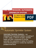 Fire Suprression - Automatic Sprinkler System