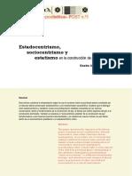 Estadocentrismo, Sociocentrismo y Estatismo