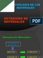 degradacion de los materiales