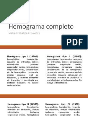 Un que tipo es iv hemograma