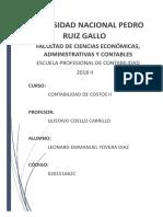 PRODUCCIÓN- CONTABILIDAD DE COSTOS