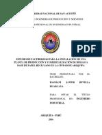 Estudio de factibilidad para la instalación de una planta de producción y comercialización de bolsas a base de papel reciclado en la ciudad de Arequipa.pdf