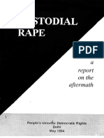 PUDR Report on Custodial Rape