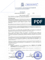 1549 R 09 Reglamento Condecoracion Medalla de Hornor Sanmarquina