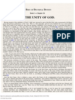 26. Of the Unity of God.