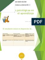 Clase Teorías Psicologicas en el aprendizaje II 2017-1.pptx