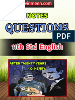 6th Std Science 1st Term Notes Questions in Tamil