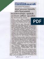 Manila Standard, Apr. 25, 2019, Senior solon lauds GMA's focused leadership quick action after quake.pdf