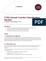 FTSE Country Classification Update 2018