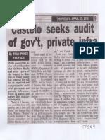 Peoples Tonight, Apr. 25, 2019, Castelo seeks audit of govt private infra.pdf