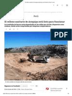 Plan de Gestión Para El Mejoramiento de La Calidad Del Aire en La Ciudad de Arequipa