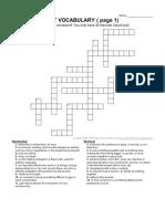Crucigrama Vocabulario KET (inglés)