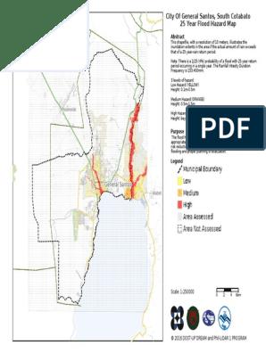 City of General Santos South Cotabato 25 Year Flood Hazard Map