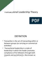 Transactional Leadership - K Shailaja Rao
