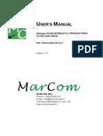 User Manual Gw-dlms- MARCOM