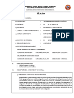 _Sillabus Taller de Investigacion Cientifica I - 2015-II