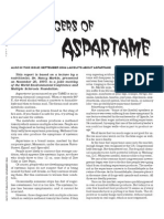 Aspartame - The Dangers Of
