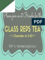 Class Rep Tea