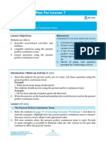 Present Perfect Progressive Lesson Plan