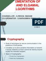 Rsa and Elgamal Algorithms