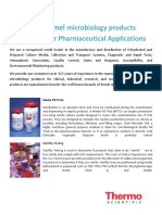 Oxoid and Remel Microbiology Products for Pharmaceutical Applications