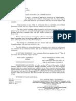 Affidavit of Cohabitation - Jumuad
