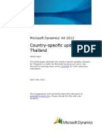 Country Specific Updates for Thailand AX2012