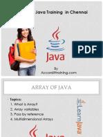 Core Java Training in Chennai