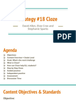 strategy 18 cloze  1
