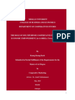 The Role of Multipurpose Cooperatives in Social and Economic Empowerment, Gambella Town, Ethiopia,