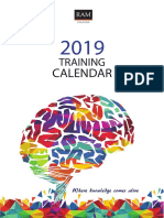 Training Calendar Jan June 2019