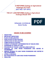 The a.P. LAND REFORMS (Ceiling on Agricultural Holdings) ACT 1973