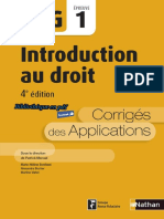 Nathan - DCG UE 1 - Introduction au droit - Manuel & Applications - 4e édition 2016 - Corrigés.pdf