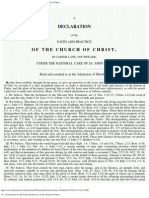 56. a Declaration of the Faith and Practice of the Church of Christ