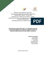 Elaboración de Menús Adaptado a La Comunidad Sorda en Los Establecimientos de Alimentos y Bebidas (Cafés) Del Municipio Libertador Del Estado Mérida, Venezuela