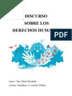 Discurso Derechos Humanos