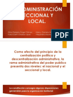 La Administración Seccional y Local- Co