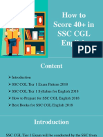 How to score 40+ in SSC CGL English
