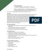 Web Portal Developer - Advert