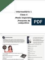 Imperativo y Subjuntivo- Classe 4
