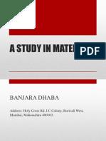 Presentation on Material Study