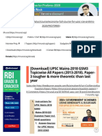 [Download] UPSC Mains-2018_ GS Paper-3 Topicwise Since 2013 to 2018(1)