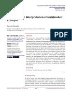 A New Physical Interpretation of Archimedes Princ-1