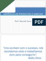 Gerencia de Produtos e Marcas - 2009