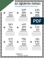 Fichas Sumas 3x3 Con Soluciones PDF Parte2