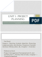 Unit 1 Capital Allocation Framework Financing of Projects