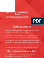 spanish  conjugation land lesson plan slideshow