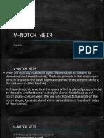 V Notch Weir